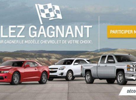Gagnez le modèle Chevrolet de votre choix avec le concours Roulez gagnant de Chevrolet!