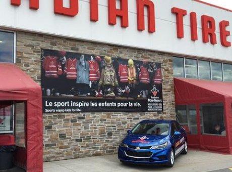 Courez la chance de gagner une Chevrolet Cruze 2016 en collaboration avec la fondation bon départ de Canadian Tire