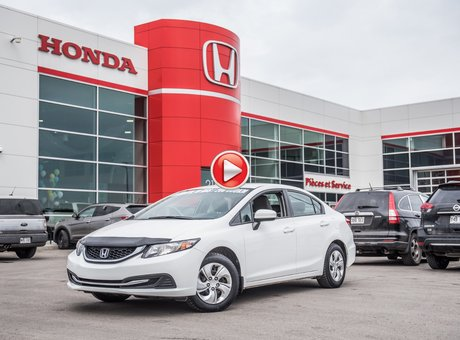 Honda CIVIC LX GARANTIE 10ANS/200,000 KILOMETRES* 2015