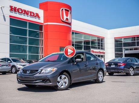 Honda CIVIC SDN LX GARANTIE 10 ANS/200,000 KILOMETRES* 2015