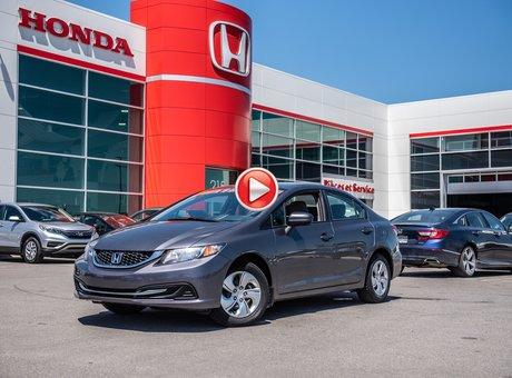 Honda CIVIC SDN LX GARANTIE 10ANS/200,000 KILOMETRESW* 2015