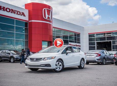 Honda CIVIC LX GARANTIE 10 ANS/200,000 KILOMETRES * 2015