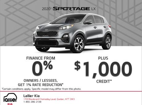 Finance the 2020 Kia Sportage