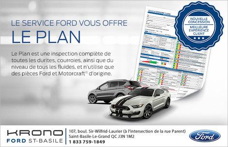 Le plan, offert par le service Ford!