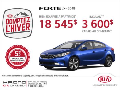 La Kia Forte 2018!