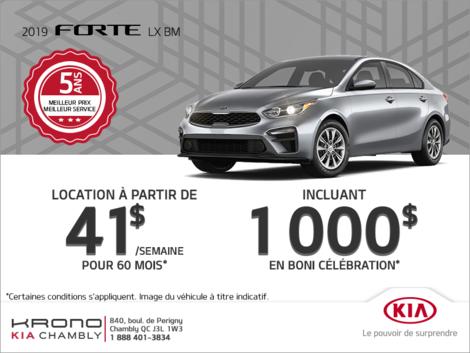 La Kia Forte 2019 !