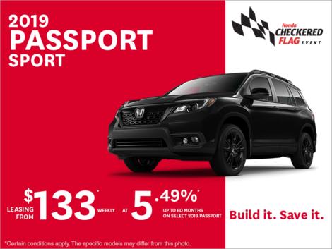 Lease the 2019 Honda Passport Sport!