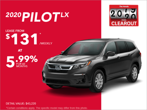 Lease the 2020 Honda Pilot!
