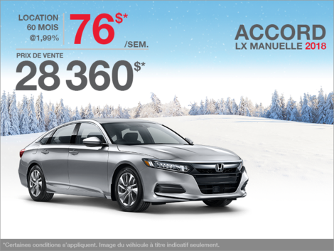 Louez la Honda Accord Berline 2018!