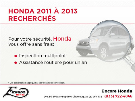 Honda 2011-2013 recherchés