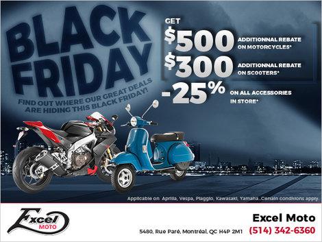Black Friday at Excel Moto!