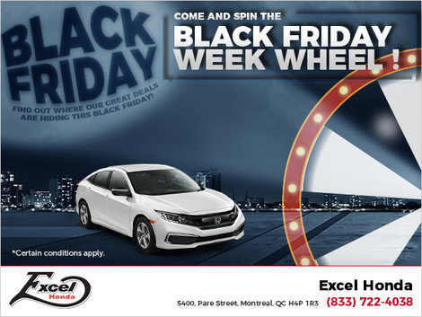 Come and Spin the Black Friday Wheel!