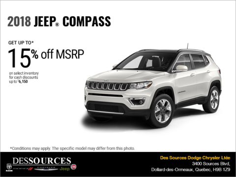 Get the 2018 Jeep Compass!