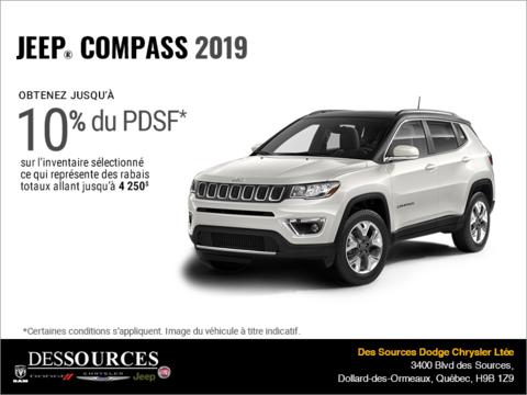 Conduisez un Jeep Compass 2019!