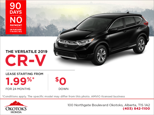 Get the 2019 CR-V Today !