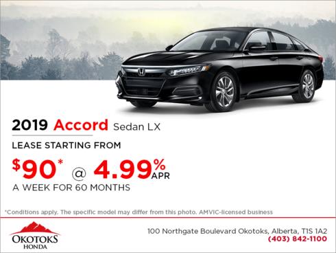 Get the 2019 Honda Accord Sedan Today!