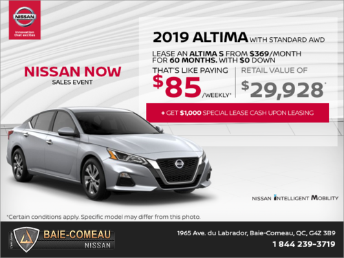 Get the 2019 Nissan Altima Today!