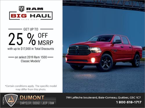 The RAM Big Haul Sales Event!