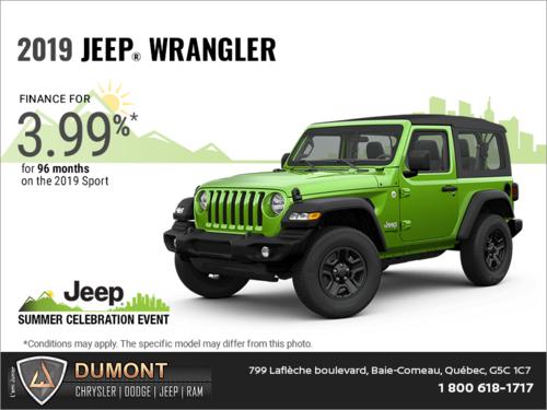 Get the 2019 Jeep Wrangler!
