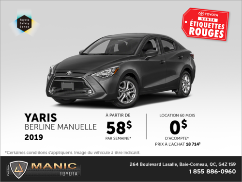 Toyota Yaris Berline 2019