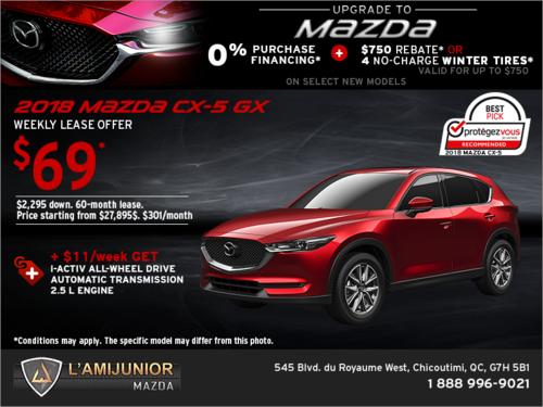 Get the 2018 Mazda CX-5!