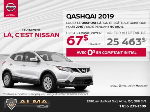 Le Qashqai 2019 en rabais!
