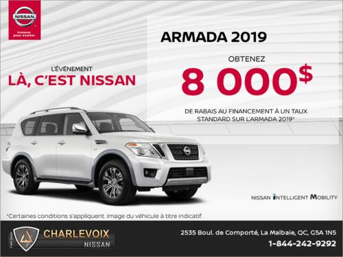 Obtenez le Nissan Armada 2019 dès aujourd'hui!