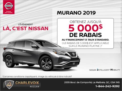 Obtenez le Nissan Murano 2019 dès aujourd'hui!