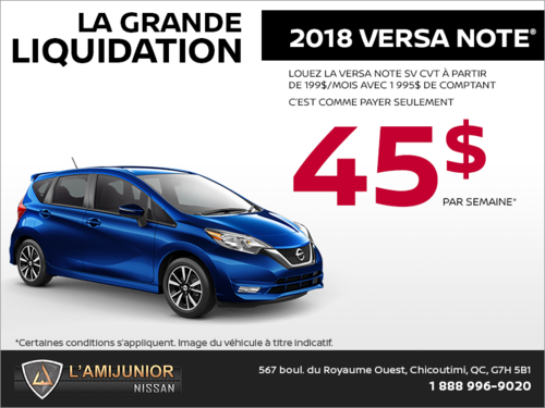 La Nissan Versa Note 2018