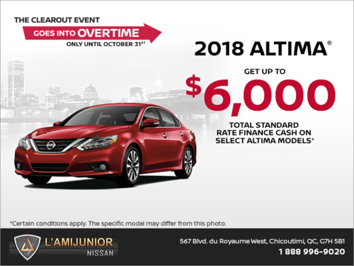 Get the 2018 Nissan Altima Today!