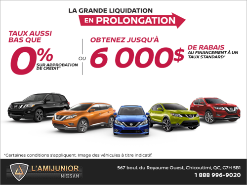 La grande liquidation Nissan en prolongation!