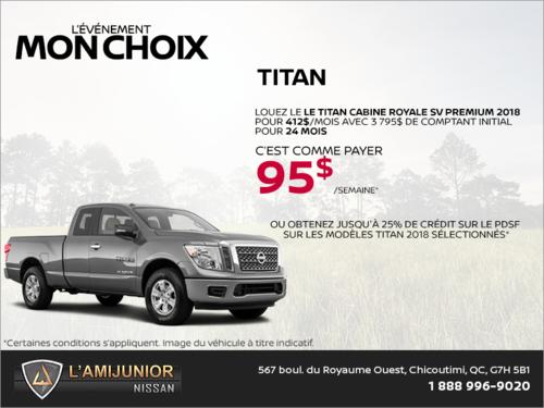 Louez le Nissan Titan 2018 dès aujourd'hui!
