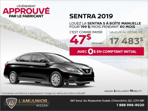 La Nissan Sentra 2019 en rabais!
