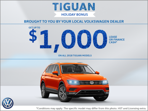 Tiguan Holiday Bonus!