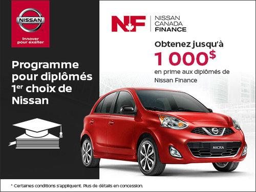 Programme pour diplômés 1er choix de Nissan