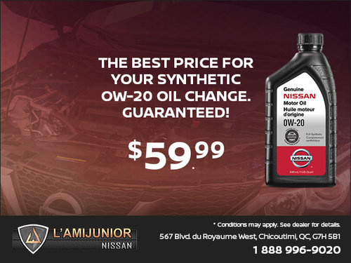Oil Change for $59.99