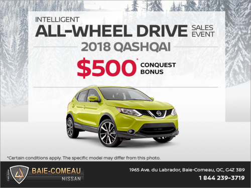 Conquest Bonus on the 2018 Qashqai!