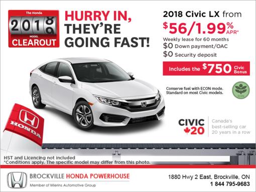 Lease the 2018 Honda Civic!