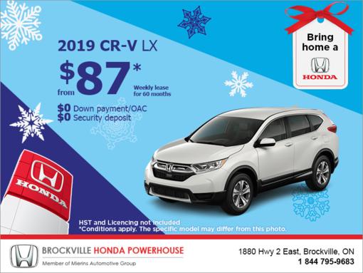 Lease the 2019 Honda CR-V!