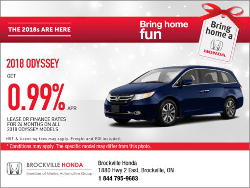 Get the new 2018 Odyssey