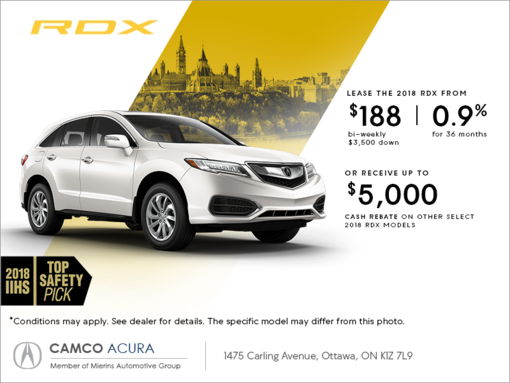 Acura RDX Mierins Automotive Group Promotion In Ontario - Lease an acura
