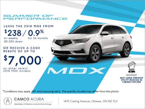2018 acura mdx mierins automotive group promotion in ontario