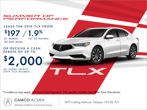 2019 acura tlx mierins automotive group promotion in ontario