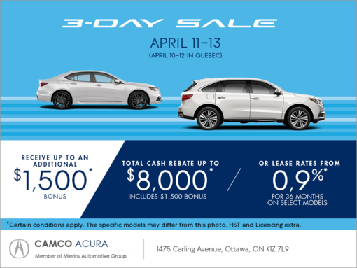 The Acura 3 Day Sale
