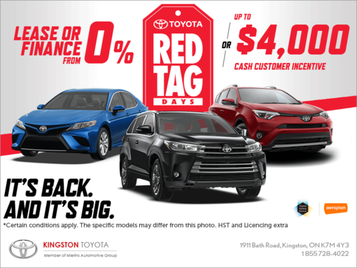 Toyota's Red Tag Days!