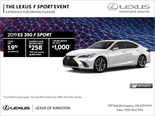 Get the 2019 Lexus ES 350 today!