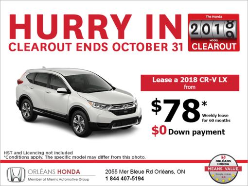 Lease the 2018 Honda CR-V!