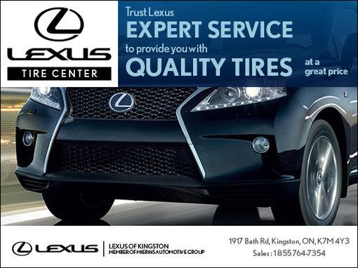 Trust Lexus for quality tires!
