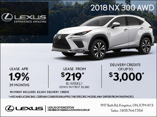 Get the 2018 Lexus NX 300 Today!
