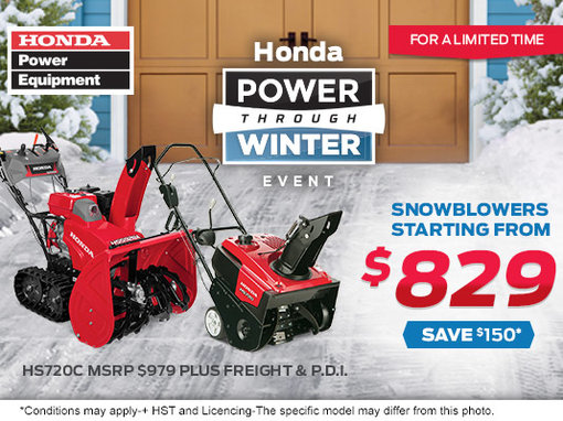 snow honda blower sale hondapowerequipment snowblower